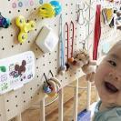 【100均】大流行中!手作り「ビジーボード」が子育てに大活躍と話題!