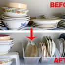 【100均】食器棚が激変!収納力&取り出しやすさ比較で圧勝したのは!?