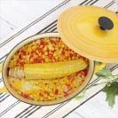 【離乳食完了期】トウモロコシとパプリカの炊き込みピラフ
