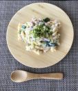 【離乳食完了期】キャベツと鮭のパスタ
