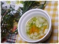 離乳食後期 にんじんブロッコリーの味噌汁
