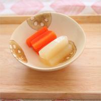 【離乳食中期】お出汁しみしみ根菜