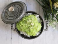 【離乳食後期】ほうれん草といさきの米粉クリームドリア