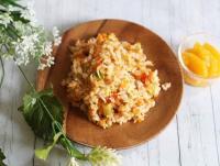 【離乳食完了期】しらすとフレッシュトマトの炒飯
