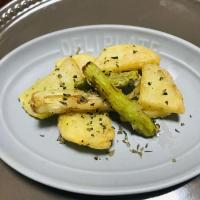 【離乳食完了期】フライドポテトとフライドアスパラ
