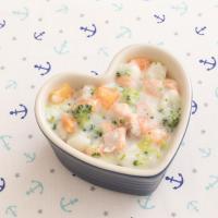 【離乳食】鮭と野菜のミルクシチュー