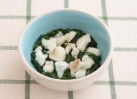 【離乳食後期】白身魚のグリーンソース