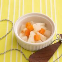 【離乳食後期】白身魚のポワレ  野菜のスープ仕立て