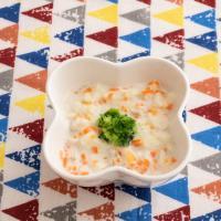 【離乳食中期】鶏ひき肉と野菜のミルクパンがゆ