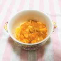 【離乳食完了期】かぼちゃうどんのチキントマトシチューがけ