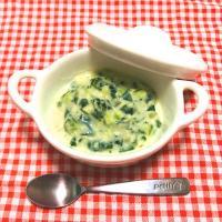 【離乳食中期】枝豆とほうれん草のミルクスープ
