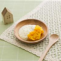 【離乳食初期】かぼちゃプラス豆腐