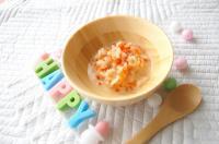 【離乳食中期】野菜のクリームリゾット