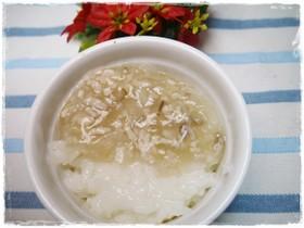 離乳食後期 鶏ミンチと野菜のあんかけかゆ