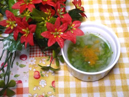 離乳食中期 にんじんと大根と白菜のスープ