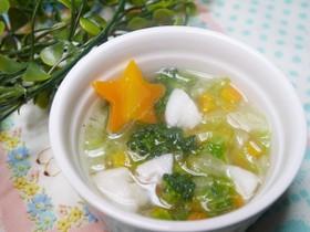 離乳食後期 カレイと冬野菜の和スープ
