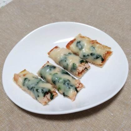 【離乳食完了期】サーモンピザ