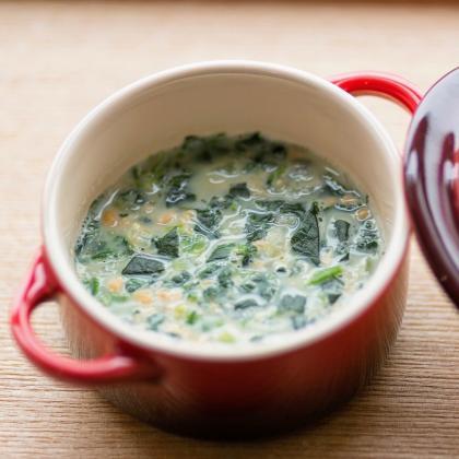 【離乳食後期】野菜と納豆の豆乳スープ