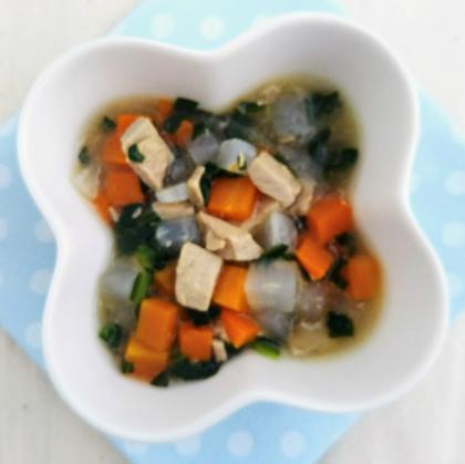 【離乳食後期】まぐろと3種の野菜のだし煮
