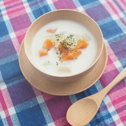 【離乳食後期】大根と人参の味噌ミルクスープ