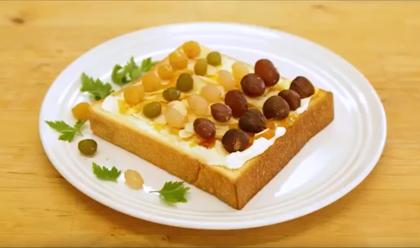 甘納豆のクリームチーズトースト
