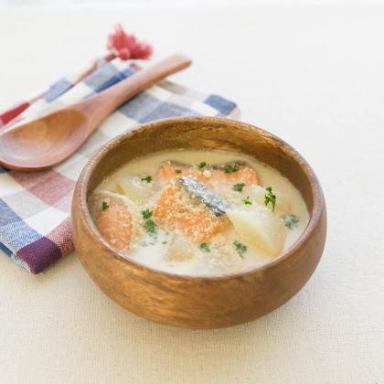 鮭と大根の和風スープ