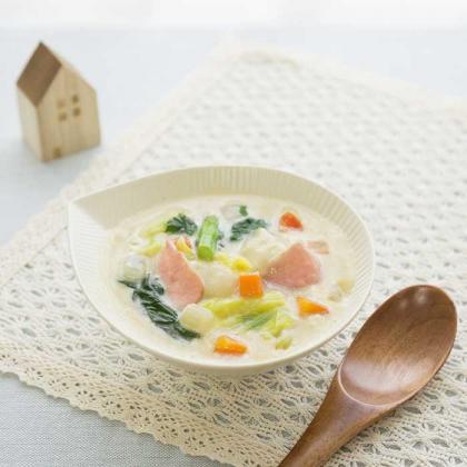 モチ餅♡豆乳スープ