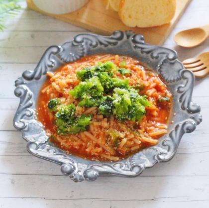 【離乳食後期】ツナと菜の花のトマトソースパスタ