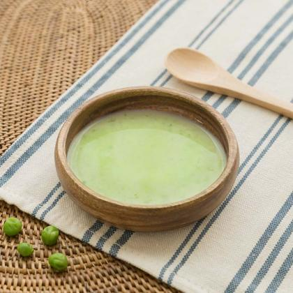 【離乳食中期】グリンピースのヘルシー豆乳スープ