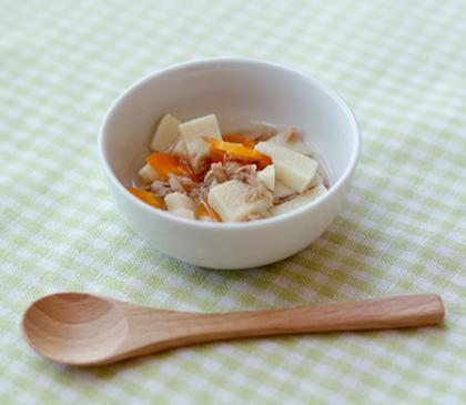 【離乳食完了期】高野豆腐とにんじんの含め煮