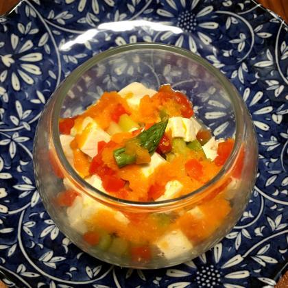 【離乳食後期】アスパラとお豆腐のにんじんドレッシングサラダ