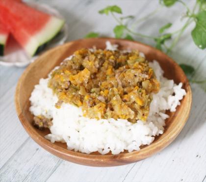 【離乳食完了期】舞茸と牛肉のあんかけご飯
