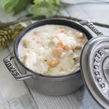 【離乳食後期】ひよこ豆と白菜の簡単クリームシチュー