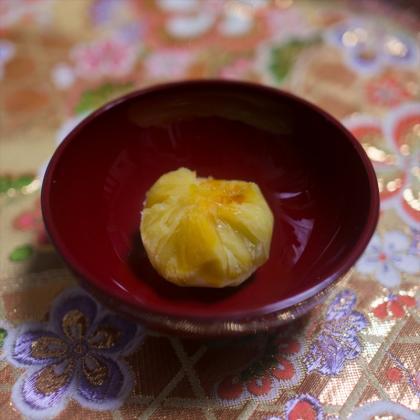 【離乳食中期】栗きんとん風茶巾