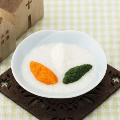 【離乳食初期】ひらめと野菜のパンがゆ