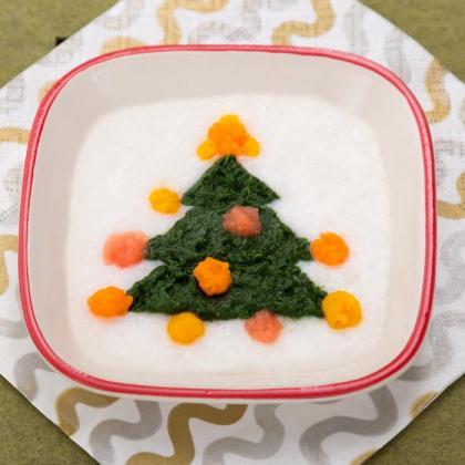 【離乳食初期】クリスマスツリー