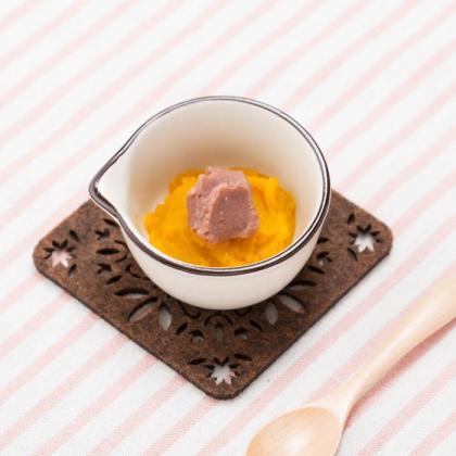 【離乳食初期】小豆かぼちゃ(小豆とかぼちゃのいとこ煮)