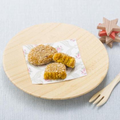 【離乳食後期】揚げないかぼちゃコロッケ