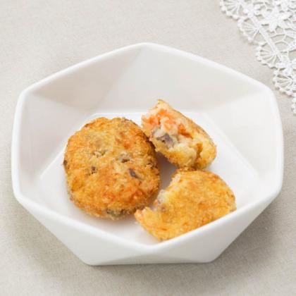 【離乳食完了期】鶏レバーと野菜のコロッケ