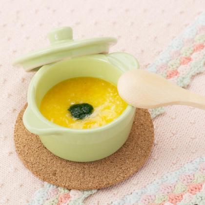 【離乳食初期】かぼちゃと小松菜のおかゆ