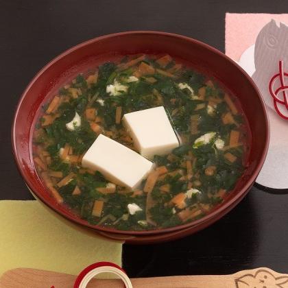 【離乳食中期】豆腐のお雑煮風