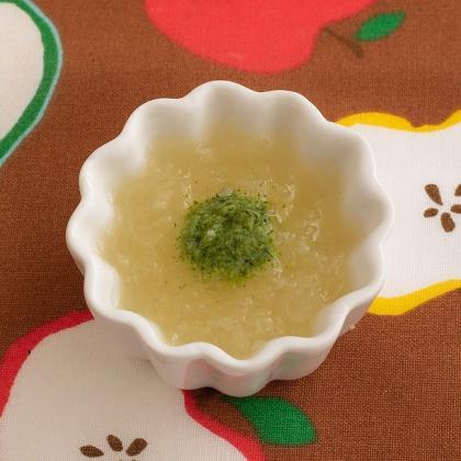 【離乳食初期】ブロッコリーとりんご