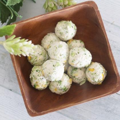 【離乳食完了期】ブロッコリーたっぷりのミートボール