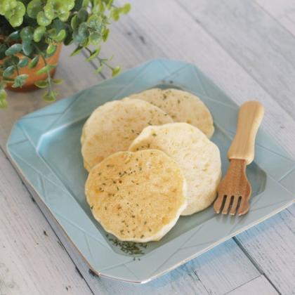 【離乳食完了期】スイートコーンたっぷり米粉パンケーキ