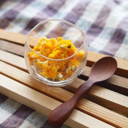 【離乳食中期】かぼちゃのチーズサラダ