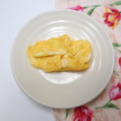 【離乳食後期】ヨーグルトチーズオムレツ