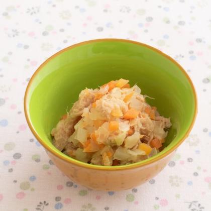 【離乳食後期】ツナと野菜の煮物