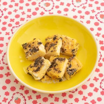 【離乳食後期】黒ごまフレンチトースト