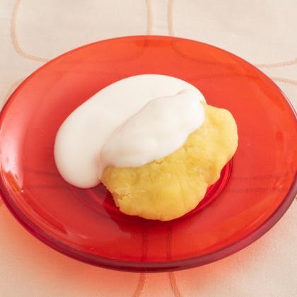 【離乳食中期】さつまいもプラスヨーグルト