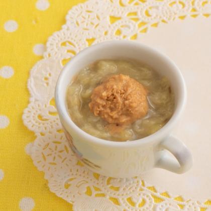 【離乳食初期】バナナプラスきな粉